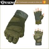 Jagd Hälfte-Finger Fingerless Airsoft Armee-Militär, das Handschuh-grüne Farbe wandert