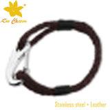 Stlb-058 al por mayor de 2016 nuevo diseño de pulseras de cuero con Palabras
