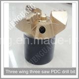 Bit Drilling de poço de água da inserção do cortador da rocha da alta qualidade PDC