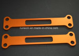 Алюминий частей CNC филируя померанцовый анодированный