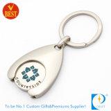 Trousseau de clés symbolique de pièce de monnaie d'achats de supermarché d'émail de chariot fait sur commande à fer