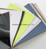 Stocklot PVCはスポーツの靴および等のための標準的な革材料に蹄鉄を打つ