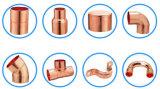 Curvatura do retorno dos encaixes do bronze e do cobre
