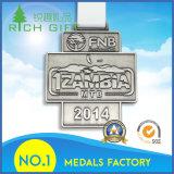 ロゴの顧客用マラソンの競争のフィニッシャーメダル最小値無し