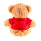 Urso desgastando do presente do Valentim do t-shirt do luxuoso do urso da peluche do Valentim