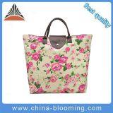 Saco de Tote impermeável de nylon da cópia da flor da bolsa das mulheres
