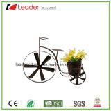 Macetas del carro de la rueda del metal para la decoración del hogar y del jardín