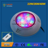 IP68 22W LED Swimming Pool Light com controle remoto