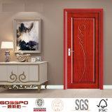 Porta de madeira interior do MDF do folheado do carvalho vermelho (GSP8-016)