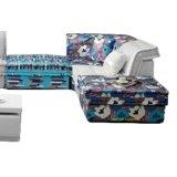 Sofá secional de tecido de sala de estar de design clássico (F895)