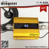 conjunto del aumentador de presión de la señal de la venda de la mini talla de 3G WCDMA 2100MHz la India solo