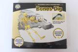 El empuje de los cabritos ensambla y visualiza los juguetes modelo del dinosaurio y de los huesos
