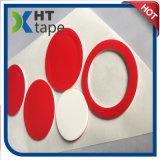 Die stempelschneidene 2mm rote Zeile weißes PET Schaumgummi-Doppeltes versah Band mit Seiten
