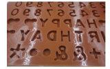 Biscuit Bakeware de moulage de chocolat de numéro de silicium d'alphabet