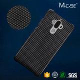 Caja del juego de alta calidad Anti Slide lados completos de protección de fibra de carbono de la cubierta del compañero para Huawei 9