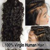 A peruca Curly Kinky do laço do cabelo do Virgin/ata completamente a peruca/peruca dianteira do laço
