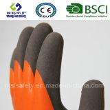 Le latex a givré des gants, les gants de travail de sûreté de fini de Sandy (SL-RS307)