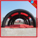 Свод PVC черного цвета материальный раздувной с печатание
