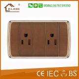 Interruttore elettrico della parete di uso domestico dei 3 gruppi