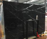 Marmo di pietra naturale della stanza da bagno di Nero Marquina del nero di marmo delle mattonelle