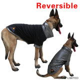 Зимы куртки собаки ватки жары одежды собаки отражательной реверзибельной большие