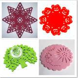 Alfombras de Copa Fancy / Pastel de Felt Pascua / Crochet Coasters de Algodón