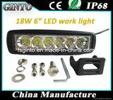 """6 """"12V / 24V 6X3w Epistar LED Flut / Spot Arbeitslicht mit E-MARK genehmigt"""