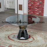 現代様式のステンレス鋼のダイニングテーブルおよび椅子