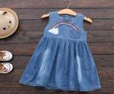 Enfants vêtant la jupe de denim de mode de robe d'été de filles