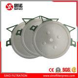 Prensa de filtro redonda de alta presión de la arcilla para el lodo eficiente que deseca