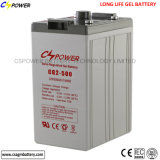 15 Years Life Deep Cycle Gel Battery 2V 500ah Cg2-500