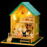 New Arrivals Kid Miniature Wooden Fancy Toy DIY Doll House