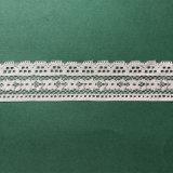 Guarnizione bianca del merletto del tessuto del jacquard del merletto della Cina
