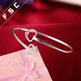Pulsera en forma de corazón plateada plata de la joyería de la manera para la muchacha
