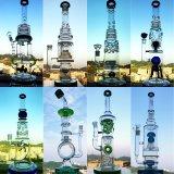 Hoher Farben-Filterglocke-Glasfertigkeit-Aschenbecher Shisha Huka-Borosilicat-Recycler-Glaswasser-Rohr-Inhalt für Tabak-RauchenHuka