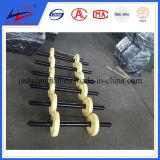 Rolo de transportador de planta de fertilizante com bom ácido e resina de corrosão alcalina Rolo de plástico HDPE UHMWPE de nylon