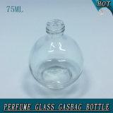 frasco de perfume de vidro do tampão de parafuso da bomba do pulverizador do Gasbag da esfera 75ml
