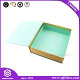 Caixa de presente cosmética do perfume do ímã quadrado requintado do cartão