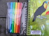 Livro de crianças do Hardcover, impressão colorida, ligação Sewing