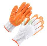 Самый лучший личный защитный хлопок связанный с Coated перчатками безопасности ладони (D14-H1)
