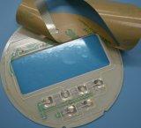 Interruptor de membrana de cúpula em relevo para equipamento médico com janela LCD