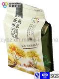 La taille a personnalisé le sac sec d'empaquetage en plastique de fruit de casse-croûte de fond plat de la catégorie comestible
