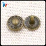 заклепка малого металла Gunmetal 9mm латунная для джинсыов