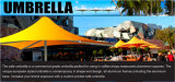De Paraplu van de Koffie van het Strand van de Stof van pvc van de bevordering voor Openlucht