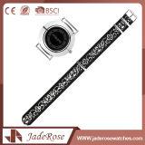Reloj de señoras del cuarzo del acero inoxidable del negro del estilo chino
