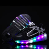単一の車輪LEDの軽く涼しいフラッシュ引き込み式のローラーの靴が付いているLEDの軽い運動靴