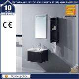 """24の""""マットの白い混合された黒い塗られた壁に取り付けられた浴室用キャビネットの単位"""