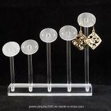 Weißer Acrylplexiglas-Ohrring-Schmucksache-Ausstellungsstand-Halter-Kasten-Schaukasten