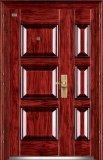 Seguridad de acero de la puerta del metal de la puerta doble