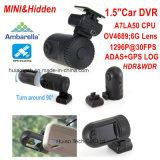 1.5inch HD TFTスクリーン、2kビデオ解像度が付いているAmbrella小型A7la50 GPS Asds車DVR Recoder追跡するのGoogleのマップHdr 1296pのブラックボックス、駐車制御DVR-1512